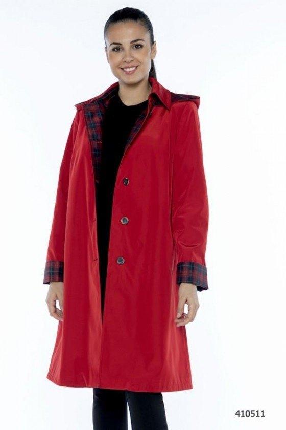 Fashion gabardina pluma 2784